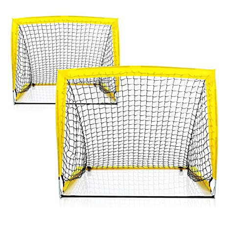 0965f6b2d Shinehalo Portable Foldable Soccer Goal for Kids, Folding Kids Sports  Football Goal Door Set Football