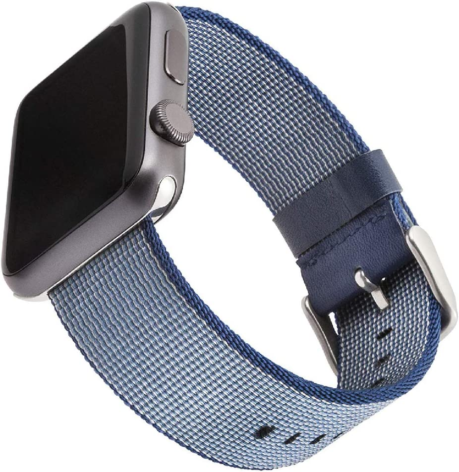 WITHit Nylon Replacement Band for Apple Watch, 38/40mm, Blue – Secure, Adjustable Stainless-Steel Buckle Closure, Apple Watch Band Replacement, Fits Most Wrists
