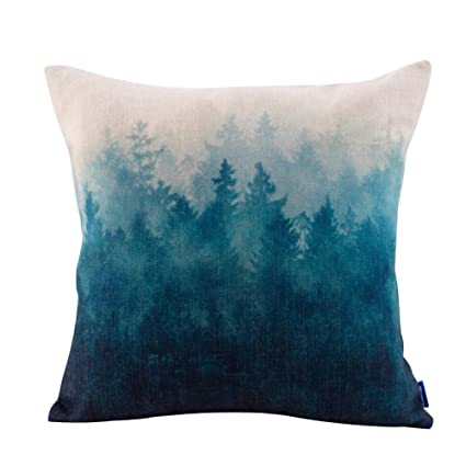 JESu0026MEDIS Forest Scenery Style Cotton Linen Throw Pillow Case For Home Sofa