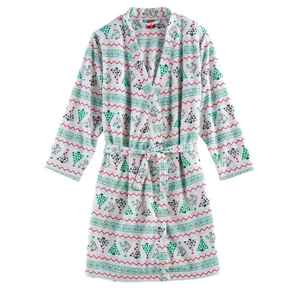 Jammies For Your Families Kids Christmas Tree Fairisle Microfleece Robe