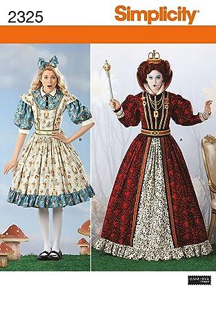 Simplicity HH Schnittmuster 6-8- 10-12 2325 Damen Kostüm Alice im ...