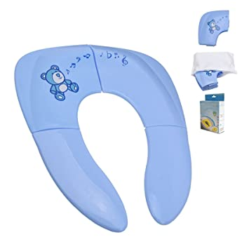 Ilyever Portable Folding Reusable Travel Toilet Potty Training Seat Covers  Liners With Carry Bag For Babies