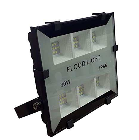 (LA) Proyector LED 30w, blanco frio (6500K), IP65, 3300 Lumenes! Lacado en blanco. (1 UNIDAD)