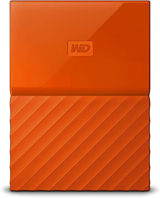WD HDD ポータブル ハードディスク 2TB USB3.0 オレンジ 暗号化 パスワード保護 ( PS4 / PS4pro 対応) 3年保証 My Passport WDBYFT0020BOR-WESN