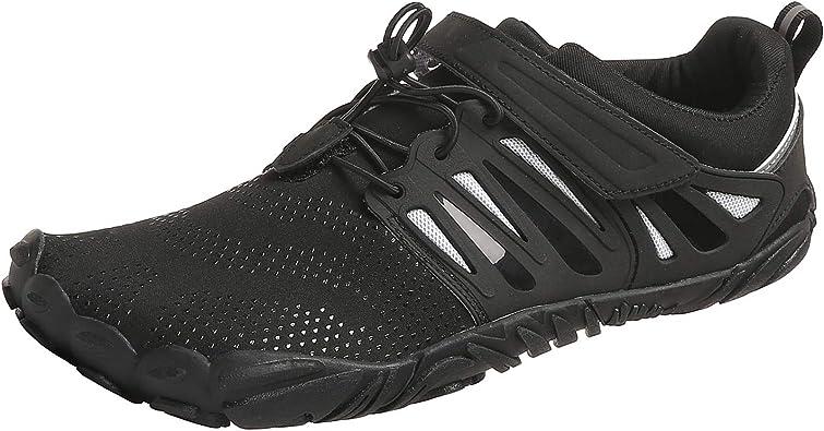 PAGCURSU Zapatillas Minimalistas para Correr y Correr, con Puntera Ancha, para Hombre, Multicolor (Negro Blanco), 44 EU: Amazon.es: Zapatos y complementos