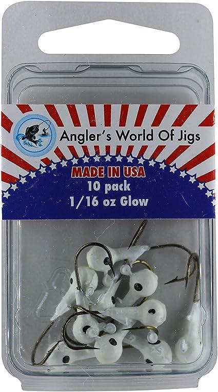 100 pk 1//8 oz Round Head Jigs Custom with 2//0 Bronze Aberdeen Hooks