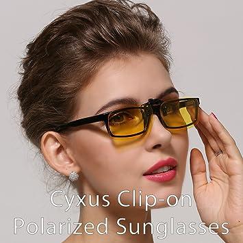 Cyxus 2 Paquets Lentilles Polarisées Classic Clip Lunettes de Soleil, [Anti-reflet] [Protection UV] Conduite/Pêche/Sport/Lunettes de Vision Nocturne, Hommes et Femmes