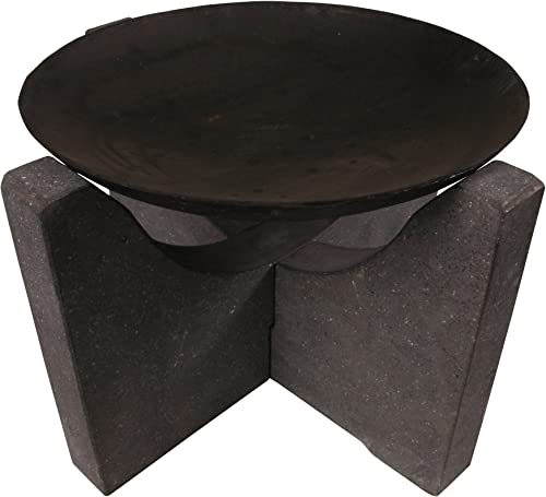 Esschert Design FF80 Fire Bowl with Granite Stand