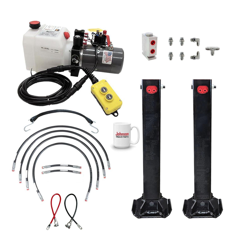 Amazon.com: Hydraulic Trailer Jacks (Twin) Kit.: Automotive