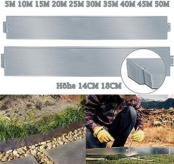 Rasenkante Metall 15cm x 30m verzinkt Beetumrandung Beeteinfassung Mähkante