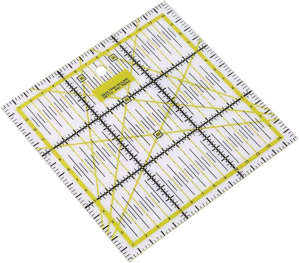 LJSLYJ DIY Sewing Quilting Tool Square Patchwork Ruler Sewing Ruler Rule Sewing Ruler