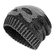 32219f15539 OMECHY Mens Watch Hat Winter Warm Knitting Hats Plain Cuffed Toboggan Beanie  Skull Cap 4 Colors