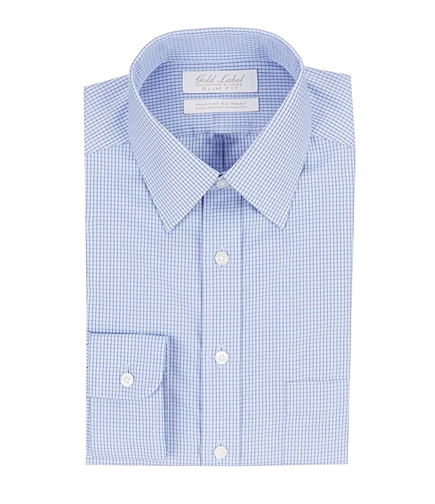 b9b556efffbc Gold Label Roundtree & Yorke Non Iron Slim Fit Button Point Collar ...