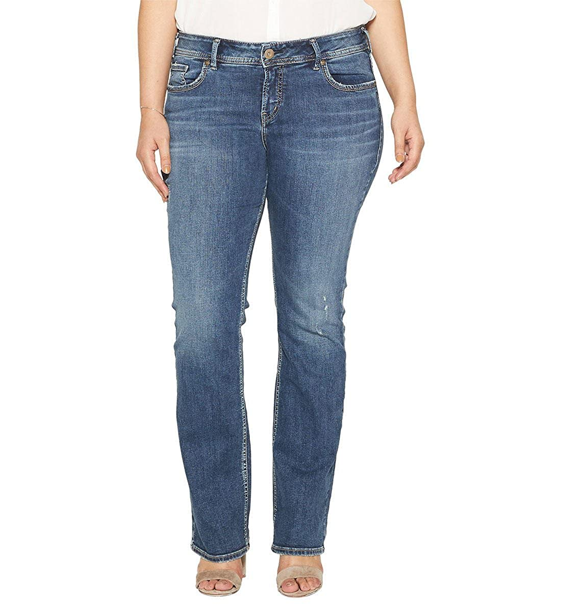 e3f17007301 ... 2000257749 Silver Jeans Co. Womens Plus Size Elyse Relaxed Fit Mid Rise  Slim Bootcut Jeans 2000257749 ...