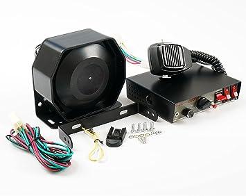 200 W 8 sonido Loud Alerta Alarma para Coche Policía ...