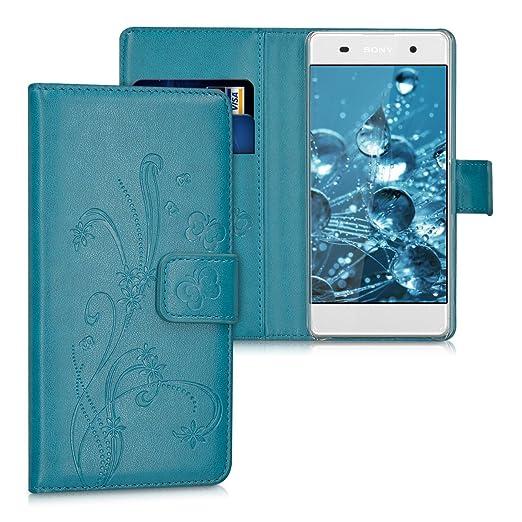3 opinioni per kwmobile Custodia portafoglio per Sony Xperia XA- Cover a libro in simil pelle