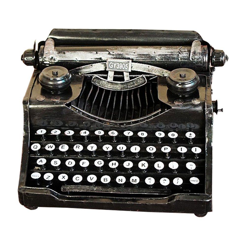 retrò decorazione d'epoca modello di macchina da scrivere in metallo letteratura e stile art Mestieri domestici Daptsy