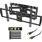 "MOUNTUP TV Wall Mount, Full Motion TV Mounts for Most 47 to 90 Inch Flat Curved TVs Up to 154lbs, Wall Mount TV Bracket with Dual Articulating Arm, Max VESA 800x400, Fits 16"" to 24"" Stud"