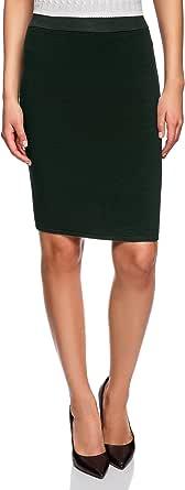 oodji Collection Mujer Falda de Punto Básica Texturizada: Amazon ...