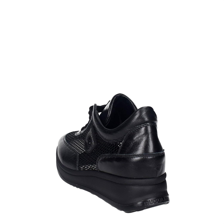 Agile Schwarz By Rucoline 1304(U) Niedrige Sneakers Damen Schwarz Agile 39  - 81a042