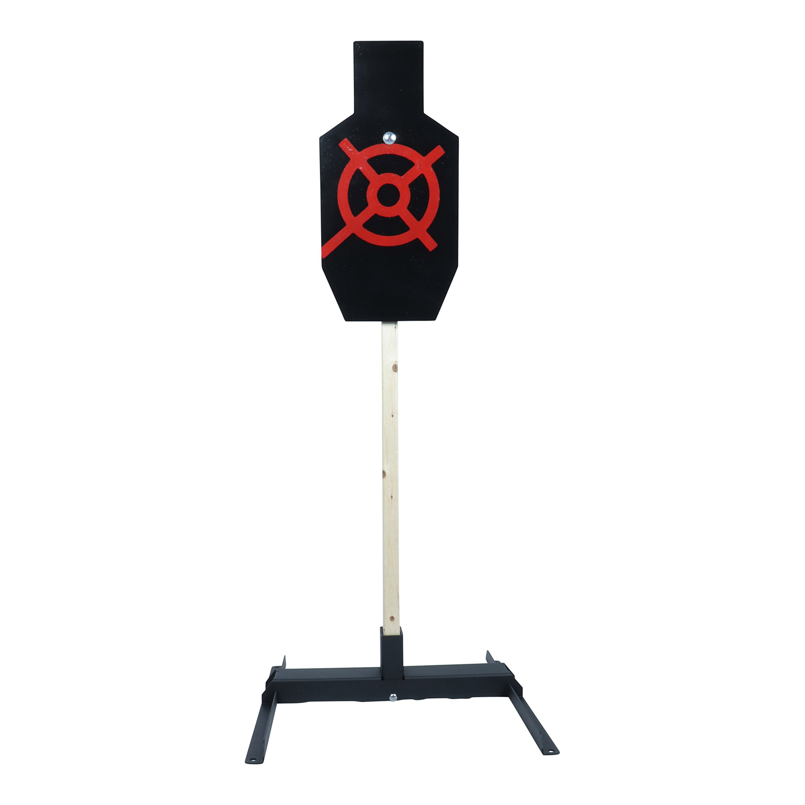 ShootingTargets7 IPSC AC Static Torso 3/8 inch AR500 + Base + Cap 12 x 24 inch for Rifles to 308 by ShootingTargets7