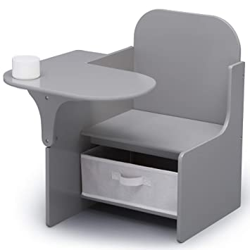 Fabulous Delta Children Mysize Chair Desk With Storage Bin Grey Pdpeps Interior Chair Design Pdpepsorg