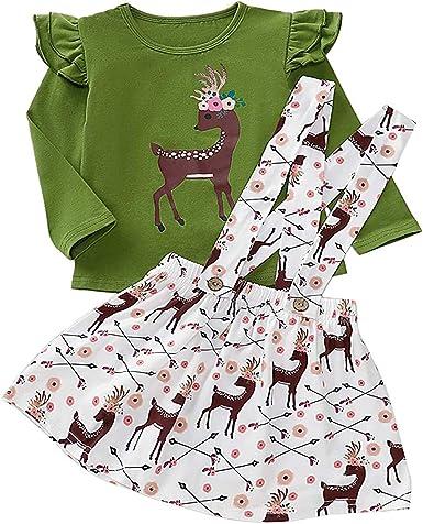 Halloween Thansgiving Toddler Baby Girls Clothes Pumpkin Top+Green Ruffle Strap Skirt Kids Fall Outfit
