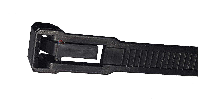 Kabelbinder 750mm Schwarz 100Stck Premiumqualit/ät von PC24 Shop /& Service