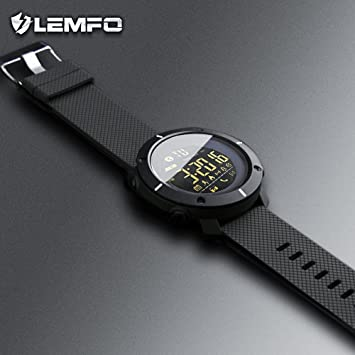 Amazon.com: Lemfo LF19 Reloj digital para hombre Smart Watch ...