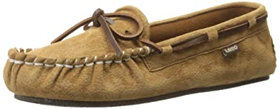 723faceb155f4 Lamo Women s Sabrina Moc ll Genuine Leather Lace Chestnut Slip-On Moccasin