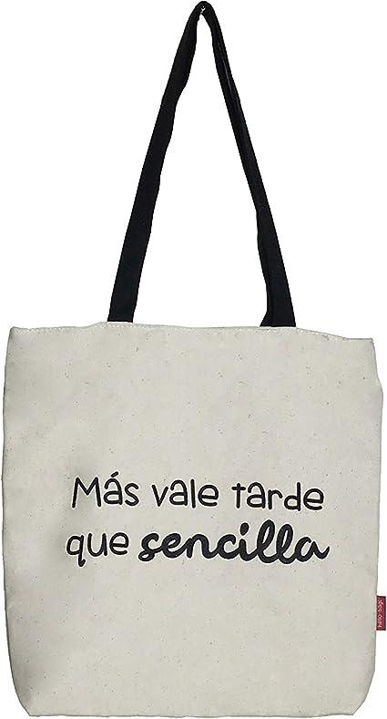 Hello-Bags, Bolso Tote, Algodón 100%, Blanco, con Cremallera ...
