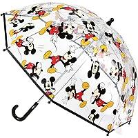 Cerdá-2400-0510 Mickey Paraguas Campana Transparente, Multicolor, Talla Única