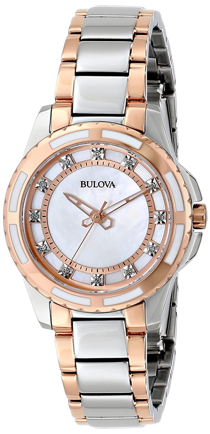 Amazoncom Bulova Womens 98P134 Diamond Dial Watch Bulova Watches