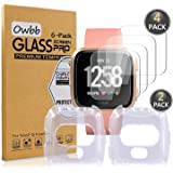 Owbb [4 stuks gehard glas screen protector voor smartwatch transparant hardheid 9H High Definition explosiebestendige film
