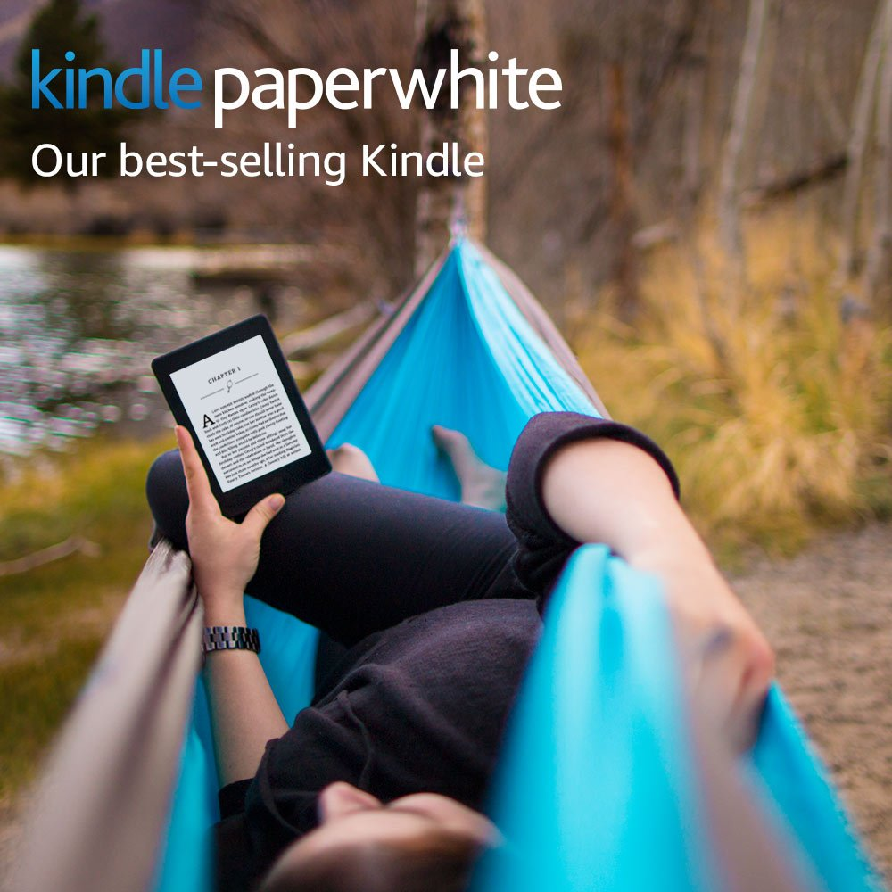 Kindle Paperwhite E-reader - Black, 6 inch High-Resolution Display (300 ppi) with Built-in Light, Wi-Fi - Includes Special Offers