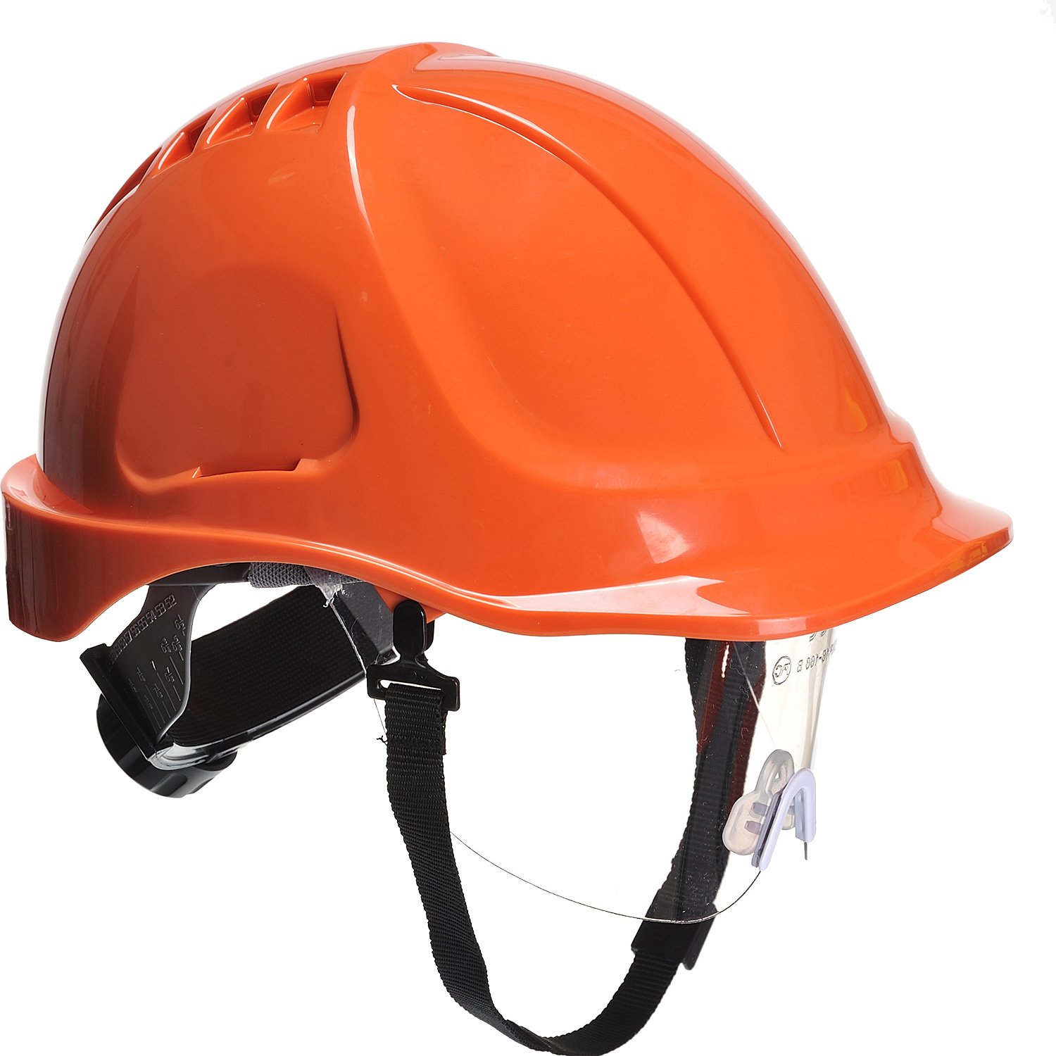 Portwest PW540RR Endurance Plus Casque avec visiè re Orange PW54ORR