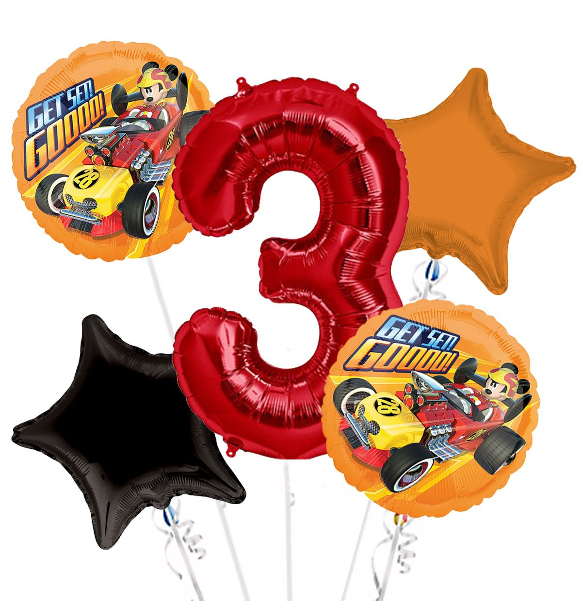 Amazon.com: Mickey Roadster Get Set. goooo. Ramo de globos ...