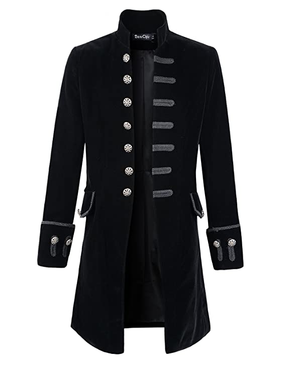 Men's Steampunk Clothing, Costumes, Fashion DarcChic Mens Velvet Goth Steampunk Victorian Frock Coat $65.90 AT vintagedancer.com