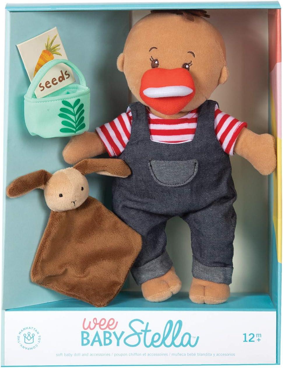 Manhattan Toy Giocattolo Piccolo Baby Stella Tiny Farmer 30.48 cm Morbido Baby Doll Set