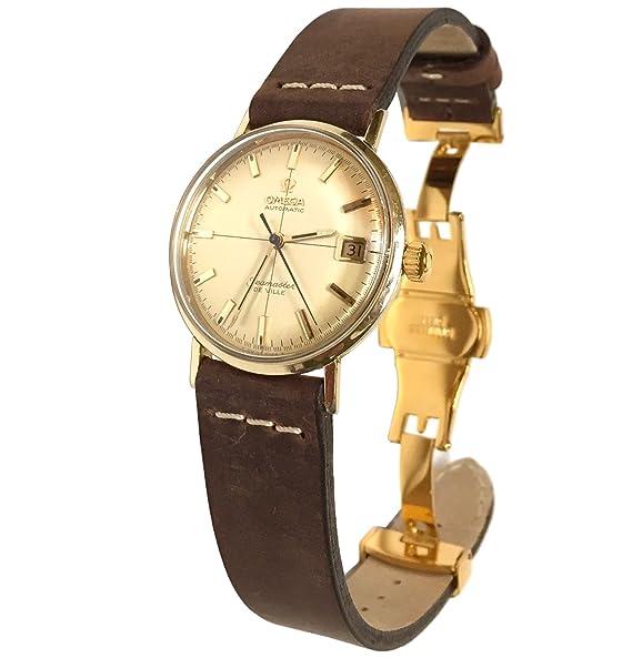 Vintage 1968 Omega Seamaster de Ville reloj con banda de cuero suede: Omega: Amazon.es: Relojes