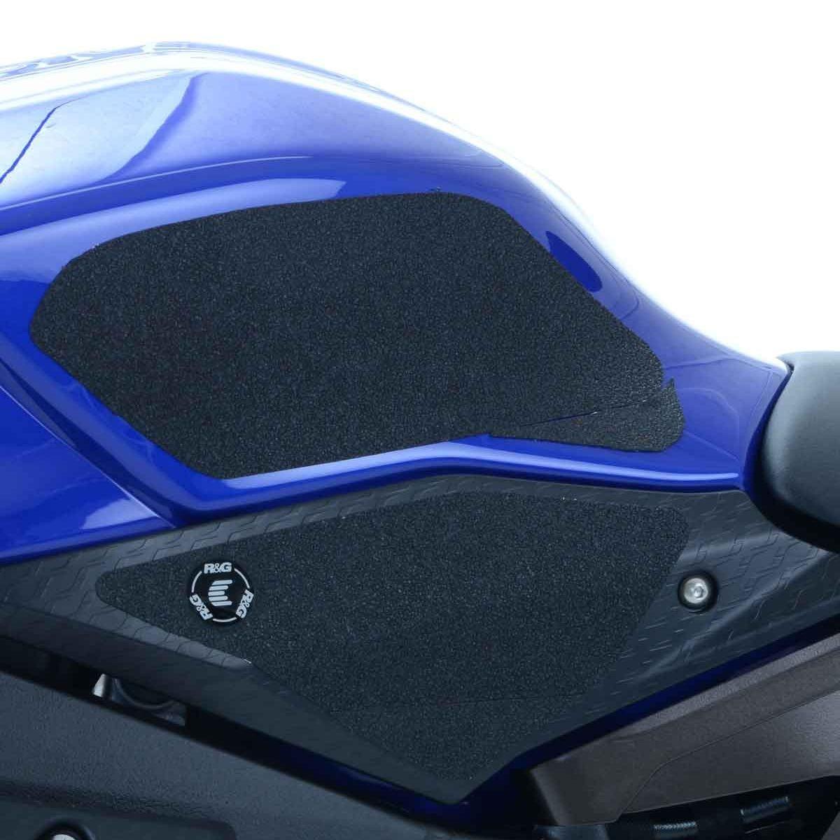 R/&G EaziGrip Traction Tank Grips Pad Protector Guard Black fits Yamaha YZF R1 R1S R1M