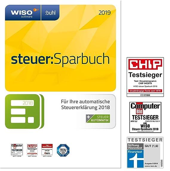 40399e6a601a WISO steuer:Sparbuch 2019 (für Steuerjahr 2018 / Frustfreie Verpackung)