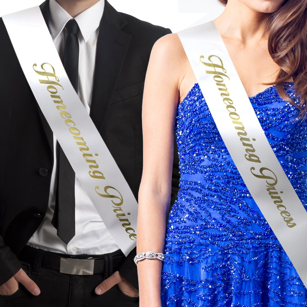 Amazon.com : RibbonsNow Homecoming Prince and Homecoming Princess Sash Set (Prince & Princess) - Made in The USA : Sports & Outdoors