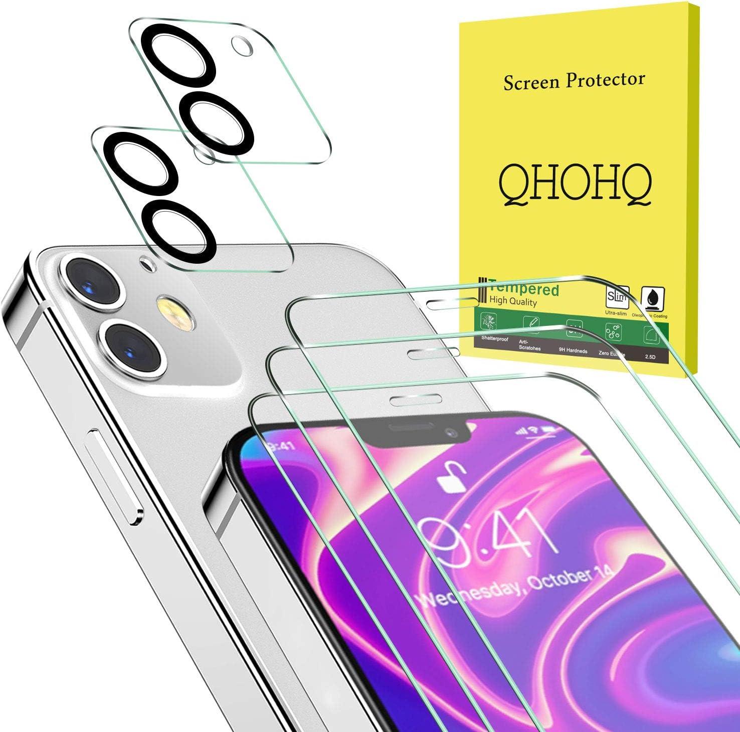 QHOHQ 3 Piezas Protector de Pantalla para iPhone L2 Mini [5.4