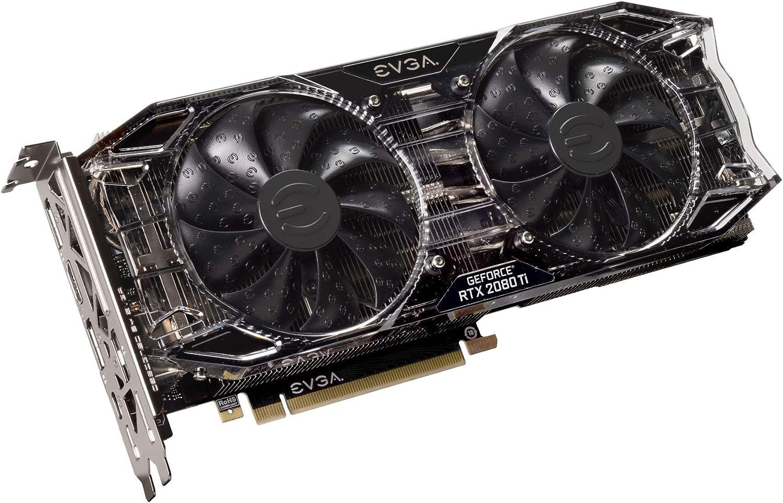EVGA GeForce RTX 2080 Ti Black Edition Gaming, 11GB GDDR6, Dual HDB Fans & RGB LED Graphics Card 11G-P4-2281-KR