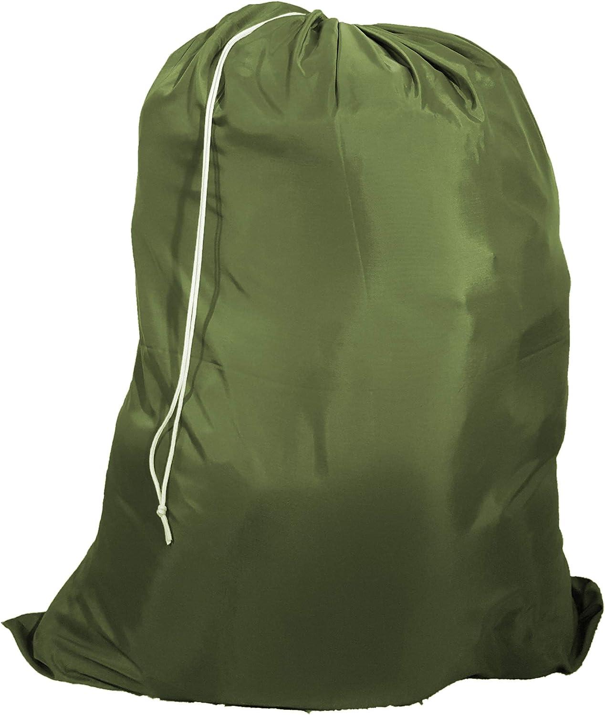 Owen Sewn Heavy Duty 40inx50in Nylon Laundry Bag (Olive)