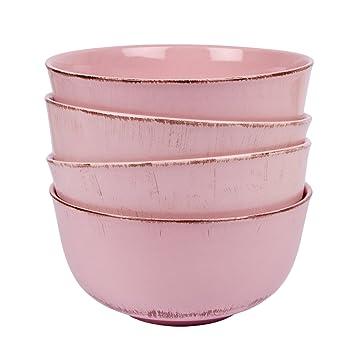 4er Set Müslischale Schüssel Schale Geschirr Keramik   Serie Tosca M In  Blau Shabby Style Landhaus Gina Da