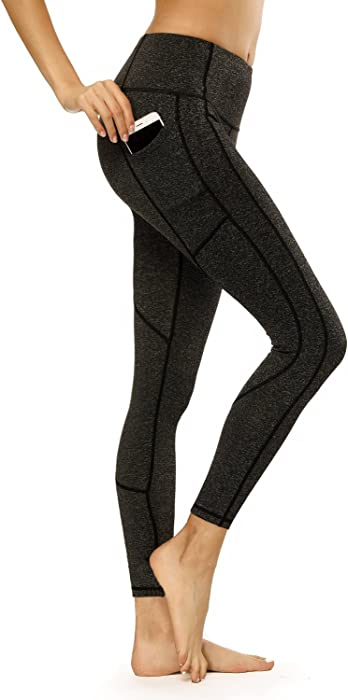 3affe0f8121a5 C-tree Women s Yoga Pants High Wasited Yoga Leggings Fitness Gym Workout  Athletic Leggings Running