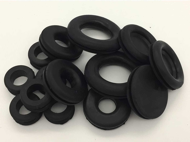 Arandelas 125 unidadesArandelas de goma en 18/tama/ños tapones de goma para carrocer/ía tapones ciegos.