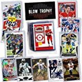NFL Quarterback Football Card Bundle, Assorted Set of 12 Mint Star QB Football Cards Gift Set, Includes one Relic…
